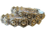 Big Rhinestone Sliver / Gold Pet Collar e Leash Products