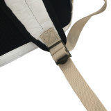 Blanco impermeable lavado kraft bolsa de papel mochila (16a089)