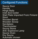 Quarto da sauna da madeira contínua (AT-8643)