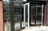 De dubbele Buitensporige Deuren van het Aluminium van het Ontwerp van de Deuren van het Glas Commerciële Franse Nieuwe