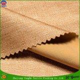 Polyester tissé coloré comme tissu de rideau de lin en lin