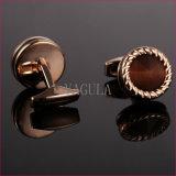 VAGULA宝石類によってめっきされるローズの金のCatseye Gemelosのカフスボタン52506