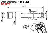 Pluritec Gigaの鋭い機械Westwind M320-62スピンドル16703コレット