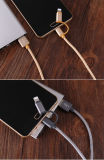 Nylon tressé en métal 2 en 1 Android pour Samsung Câble micro USB de données de charge