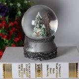 Globe de neige à la résine personnalisée avec musique pour Noël Deco