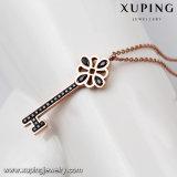 Ожерелье шкентеля ключа Zircon ювелирных изделий цвета золота Rose 00264 способов