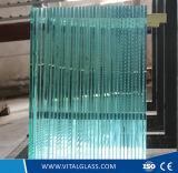 O espaço livre/matizado/reflexivo/passa baixo de cristal/dourado/bronze/o azul/verde/o cinzento/preto/o vidro de flutuador liso edifício cor-de-rosa para a porta e o indicador