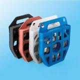 Serre-câble enduit d'époxyde libérable lourd d'acier inoxydable de 0.39 pouce