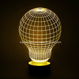 3D LEIDENE van de Gift van de Dag van de houten Valentijnskaart van de Basis de Lamp/het Licht van de Nacht