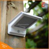 太陽ランプをつけるLEDは20 LEDの太陽エネルギーの屋外の機密保護ライトランプPIRの動きセンサーを防水する