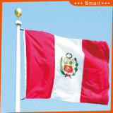 Изготовленный на заказ сделайте водостотьким и No модели национального флага Перу национального флага Sunproof: NF-023