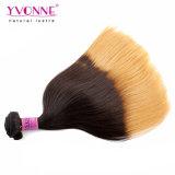Natural de qualidade superior em linha reta Ombre peruano de cabelo humano