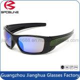Preiswerte kundenspezifische im Freiensport-Sonnenbrille-Form-bunter Objektiv-greller Glanz, der komprimierende laufende Schutzbrillen blockt