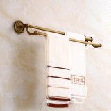 Barre di tovagliolo antiche del doppio della stanza da bagno di Flg con ottone solido