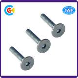 Carrello rotondo del acciaio al carbonio/pianamente capo esagonale galvanizzato M8/vite quadrata del collo