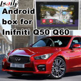 Android 5.1.4.4 GPS Navigation Box for Infiniti Q50 Video Interfaces Waze Mirror Link