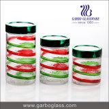 Lidded высокорослый контейнер &Food стеклянной бутылки (GB2101LX-1)