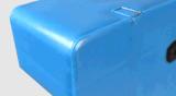 Palette 1.5t en plastique dynamique à plat lourde en plastique de HDPE du plateau 1200*1200*140mm de produits d'entrepôt avec de l'acier 4