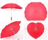 25 بوصة 16 أضلاع يتزوّج إعطاء هبة مستقيمة قلب شكل مظلة