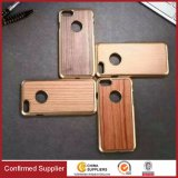 Galvanização de PC Wood Hybrid Mobile Phone Case Wood Back Shell
