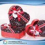Regalo/cioccolato impaccante di carta di lusso/casella cosmetica di figura del cuore (xc-hbg-006A)