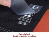 Autocollant de transfert de chaleur le cou de la taille de la langue du contenu des étiquettes de soins de l'impression pour vêtement / Chaussures