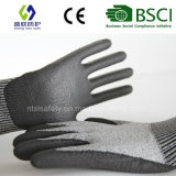 PUによって塗られる切口抵抗力がある作業安全手袋(PE1001)