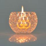 Suporte de vela de cristal da cor do espaço livre da decoração do casamento