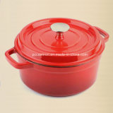 22cm Staub Style Cast Iron Casserole Pot Dutch Oz 2.8L