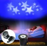 Indicatore luminoso della proiezione di natale dell'alloggiamento LED dell'ABS del rifornimento della fabbrica per la decorazione domestica con il reticolo mobile della stella