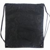La coutume de haute qualité couleur pure, double couche de polyester, sac à dos Sac avec lacet de serrage