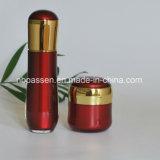 Neuer Luxus-gesetztes Rot/Goldacryllotion-Flasche für Kosmetik (PPC-NEW-106)