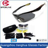 2016 New Style Rimless Custom Mirrored Sport Myopia Óculos de sol com lentes intercambiáveis