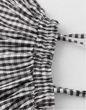 Маленькой девочки Bowknot втулки Falbala способа лета платье самой последней симпатичной