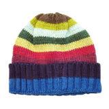 자주색 검사된 뜨개질을 하는 모자 (JRK156)