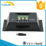 Controlador de carga de painel solar 30V 12V / 24V para regulador do carregador de bateria com LCD S30