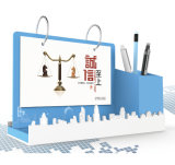 Календар изготовленный на заказ нового высокого качества конструкции выдвиженческий акриловый Desktop