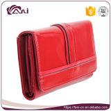 Бумажник кожи коровы Fani самый последний с цветом крокодиловой кожи красным
