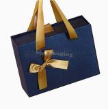 Caixa de presente personalizada elegante da caixa de papel do casamento com corda do punho