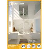 Las escaleras de cristal de cristal de la escalera espiral diseñan fácil instalan la escalera