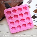 16 belles extrémités de moulage de silicones de bruit de gâteau d'empreintes de pas avec 16*15.5*2cm