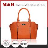 Utile Solid Color PU Logo personnalisé un sac de shopping Lady sac à main