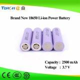 18650 3.7V 2500mAh China Hersteller Soem zylinderförmige Li-Ionbatterie für 18650 40A V30