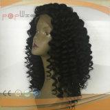 La India Virgen Afro el cabello rizado rizado peluca de encaje completo (PPG-L-01717)
