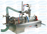 수평한 압축 공기를 넣은 단 하나 헤드 반 자동적인 액체 충전물 기계