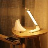 2017 pequeñas lámparas de escritorio blancas y negras baratas de la carga del estilo del LED