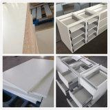 Mobilia Handle-Less della cucina del poliuretano di disegno della lacca grigia bianca