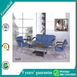 普及した最もよく安く青く快適な現代革オフィスのソファのレセプションのソファー