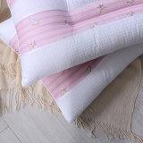 OEMの綿のピンクの縞の柔らかいホーム枕