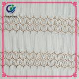 Vente en gros 100% de tissu de lacet de crochet de cil de polyester